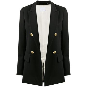 peak-lapels double-breasted blazer