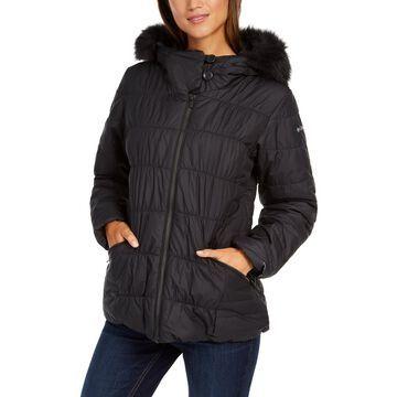 Sparks Lake™ Hooded Faux-Fur-Trim Coat