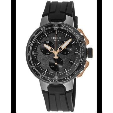 Tissot T-Race Chronograph Cycling Rose Gold Tone Rubber Strap Men's Watch T111.417.37.441.07 T111.417.37.441.07