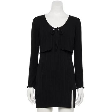 Juniors' Speechless Bodycon Dress & Sweater Set, Girl's, Size: XL, Oxford