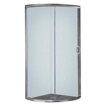 Aston Semi Shower Enclosure, Stainless Steel, 40