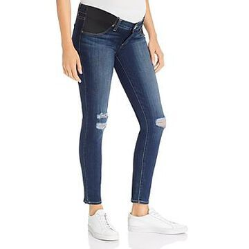 Paige Verdugo Ankle Skinny Maternity Jeans in Nia Destructed