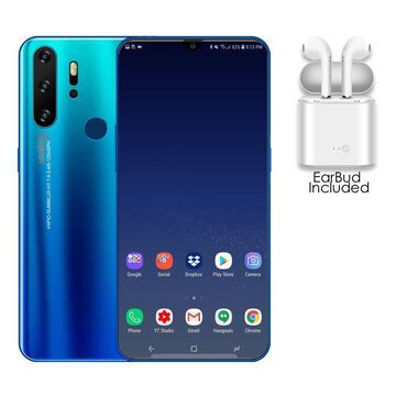 NEW P1 Pro SmartPhone by Indigi , 4G GSM , 6.3-inch FHD, Android 9.1, DualSIM (Ocean Cyan, 128GB+6GB RAM)