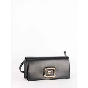 Roger Vivier Leather Viv Choc Shoulder Bag