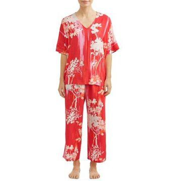 N NATORI WOMEN'S BOTANICAL BRUSH PJ SET