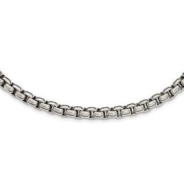 Primal Steel Stainless Steel Polished 24-inch Necklace