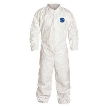 DUPONT TY125SWH3X0025NF Collared Disposable Coveralls , 3XL , White , Tyvek(R)
