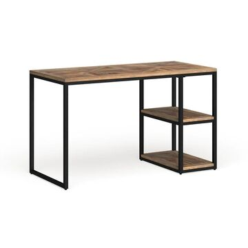 Garstivon Rustic Black with Distressed Fir Writing Desk