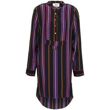 Figue Striped Silk Crepe De Chine Tunic