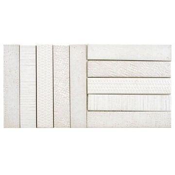 SomerTile 10x20-inch Sophitia Valge Porcelain Mosaic Floor and Wall Tile (5 tiles/6.95 sqft.)