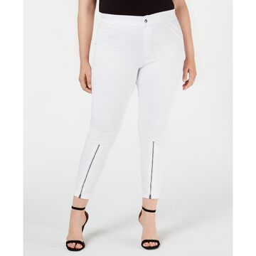 Plus Size Extreme Zip Hem Denim Leggings, Created for Macy's