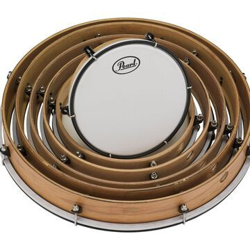 Pearl PFR0818C Frame Drums Set with Lugs and Coated Heads