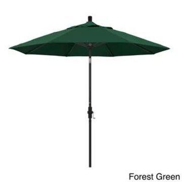 California Umbrella 9-Foot Black Aluminum Market Umbrella