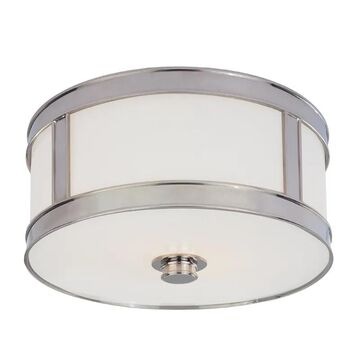 Hudson Valley Patterson Ceiling Light in Polished Nickel