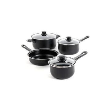 Gibson Everyday Chef Du Jour Black 7 Piece Non-Stick Cookware Set -