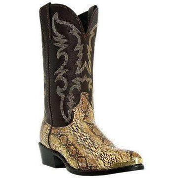 Laredo Boots Men's Brown with Snake Print 12