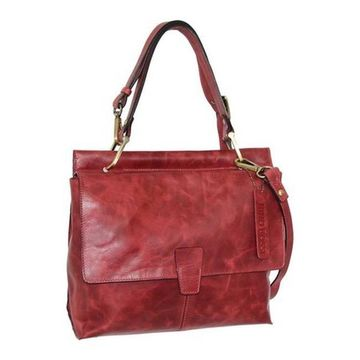 Nino Bossi Women's Jania Leather Shoulder Bag Red - US Women's One Size (Size None)