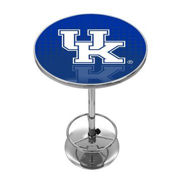 Trademark Gameroom Kentucky Wildcats Pub Tables Chrome Round Bar Table, Composite with Metal Metal Base | KY2000-REF
