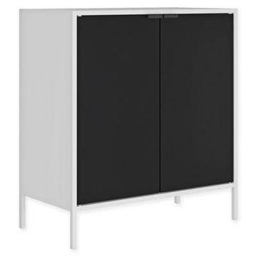 Manhattan Comfort Smart Cabinet in White/Black