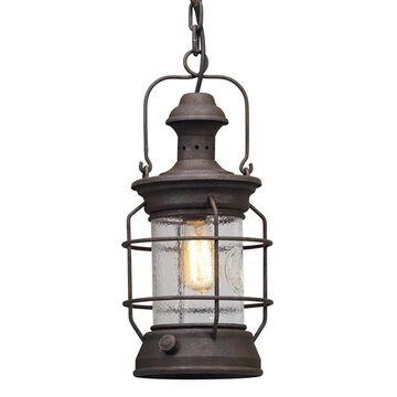 Troy Lighting Atkins Centennial Rust Industrial Geometric Medium (10-22-in) Pendant Light | F5057