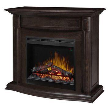 Gwendolyn Mantel Electric Fireplace With Logs, Espresso Finish