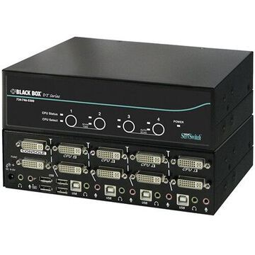 BLACK BOX KV9624A SERVSWITCH DT DUAL-HEAD DVI USB, 4-PORT