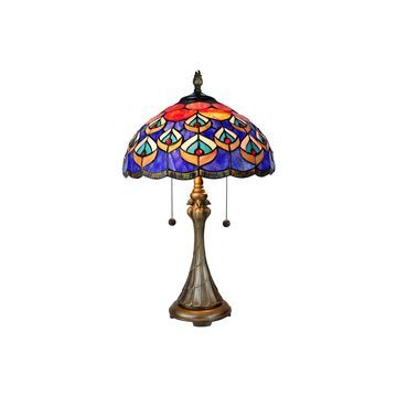 Dale Tiffany Royal Peacock Glass Table Lamp