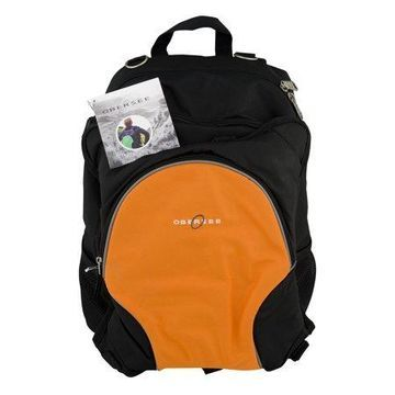 Obersee Rio Diaper Bag Backpack With Cooler Black/Orange, 3.0 CT