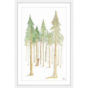 Marmont Hill Cat in the Forest Framed Wall Art