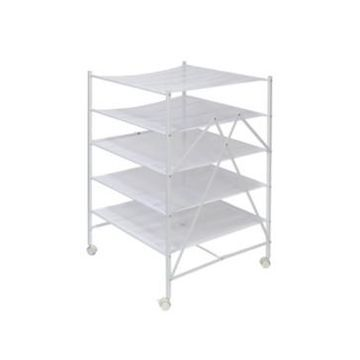 Honey Can Do 5-Tier Collapsible Rolling Clothes Drying Rack