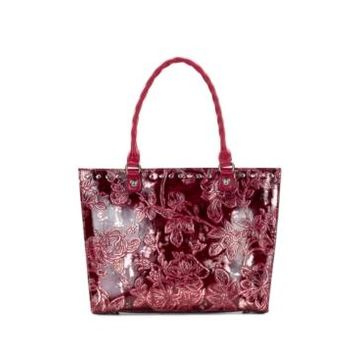Patricia Nash Zancona Metallic Embossed Leather Tote, Created for Macy's