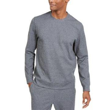 Alfani Men's Classic-Fit Stretch Stripe Knit Sweatshirt, Created for Macy's