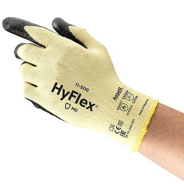 Ansell 11-500-9 HyFlex Made With Kevlar Gloves, Large, Size 9, 12 Pairs