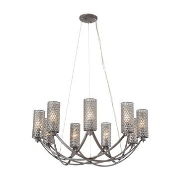 Varaluz Casablanca Steel Mesh 9-light Chandelier