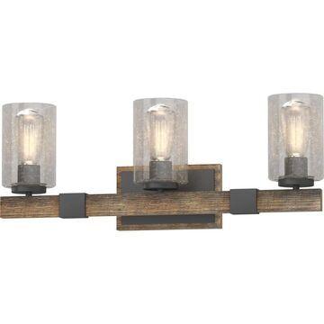 Volume Lighting 3-Light Black Farmhouse Vanity Light