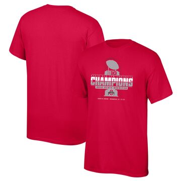 Ohio State Buckeyes Top of the World 2019 Big Ten Football Champions Locker Room T-Shirt - Scarlet