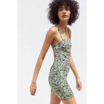 Motel Cinelle Zebra Print Strappy Back Dress