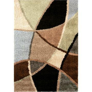 Orian Rugs Divulge 8 x 11 Brown Geometric Coastal Area Rug in Blue   250572