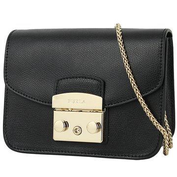 Furla Metropolis Black Leather Handbags