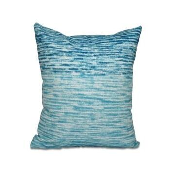 Ocean View 16 Inch Turquoise and Teal Decorative Geometric Throw Pillow