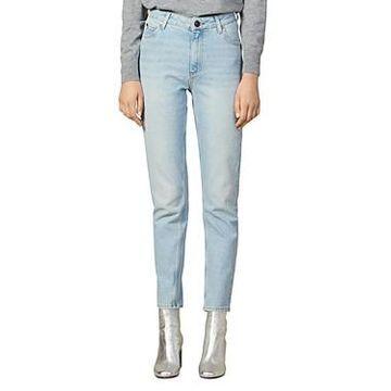 Sandro Parisen High-Rise Jeans in Blue Vintage