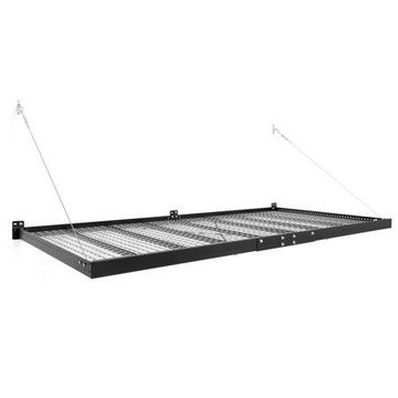 NewAge Products Pro Series 4 ft. x 8 ft. Wall Mounted Steel Shelf in Black