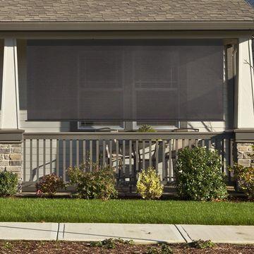 Keystone Fabrics Premium Outdoor Sun-Shade with Hand Crank and Aluminum Valance