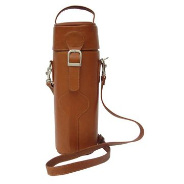 Piel Leather Single Deluxe Wine Carrier (Saddle)