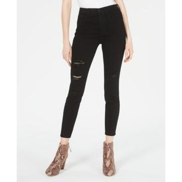 Celebrity Pink Juniors' High-Rise Distressed Curvy Skinny Jeans