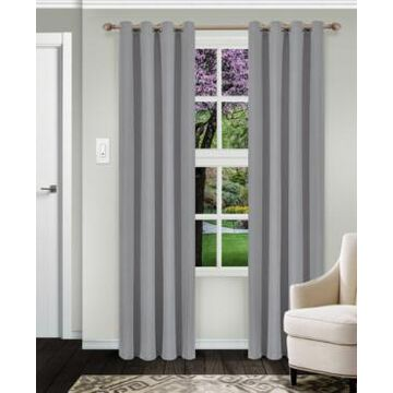 """Superior Solid Textured Blackout Curtain, Set of 2, 52"""" x 108"""""""