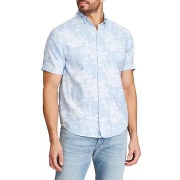 Chaps Men's Big & Tall Go Untucked Short Sleeve Button Down Shirt - -