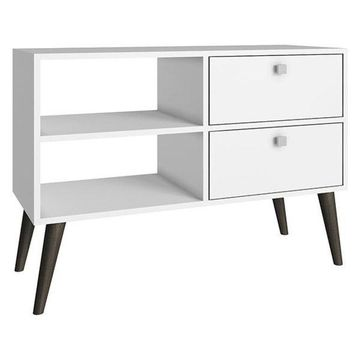 Manhattan Comfort Dalarna TV Stand, Oak, Stamp, Gray, White, Gray