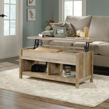 Sauder Cannery Bridge Lift-Top Coffee Table, Lintel Oak Finish