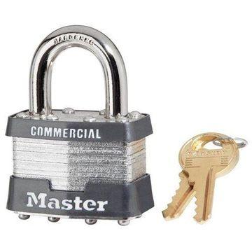 Master Lock No. 1 Laminated Steel Pin Tumbler Padlock, 4 Pin